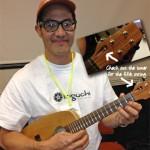 David Iriguchi with 5-string ukulele